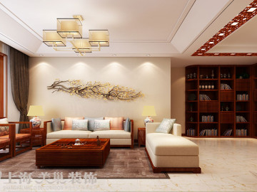 锦棠三室两厅新中式装修效果图