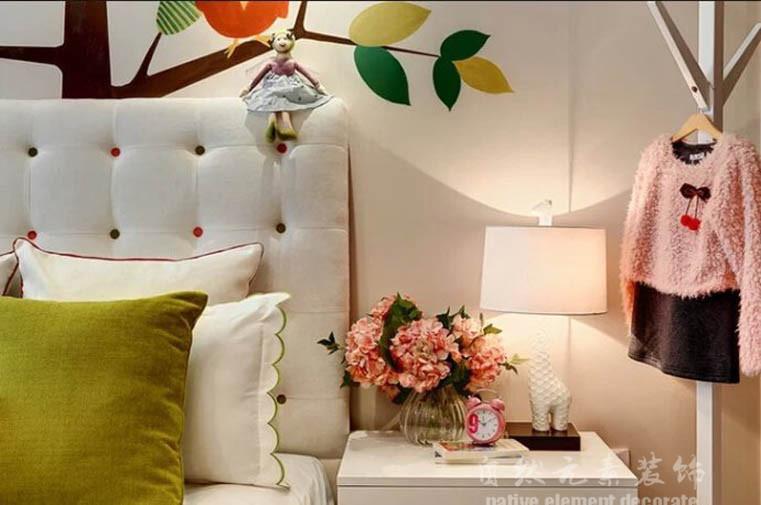 碧云天 混搭风 三居 卧室图片来自自然元素装饰在碧云天混搭风装修案例的分享