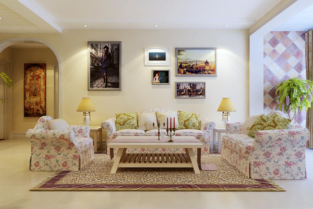 田园 三居 收纳 小资 客厅图片来自广州生活家家居在水晶园田园风格的分享