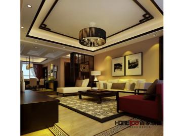金地锦城145平新中式风格