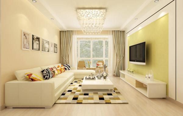 客厅: 沙发背景墙独特的设计,很好的拉伸了客厅的高度