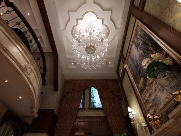 客厅顶部灯池设计造型展示效果