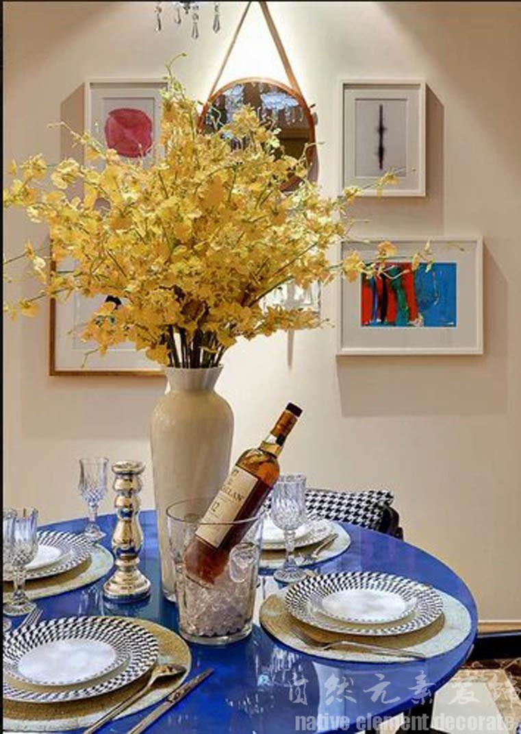 碧云天 混搭风 三居 餐厅图片来自自然元素装饰在碧云天混搭风装修案例的分享