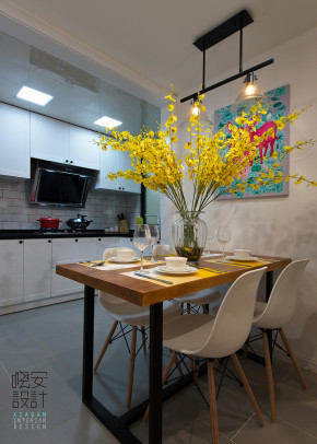 美式 一室 温馨 80后 小资 简约 厨房图片来自周晓安在水韵花都-麋鹿森林的分享