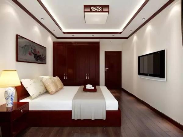 新中式卧室装修布局,新中式卧室这样装才能彰显新中式风味。这才是富有生命力和文化内涵的艺术空间。