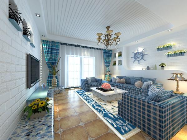 地中海风情 将海洋元素应用到家居设计中,蓝白经典的颜色搭配,让人置身于放松、舒适的海洋,给家增添一抹最唯美的浪漫。