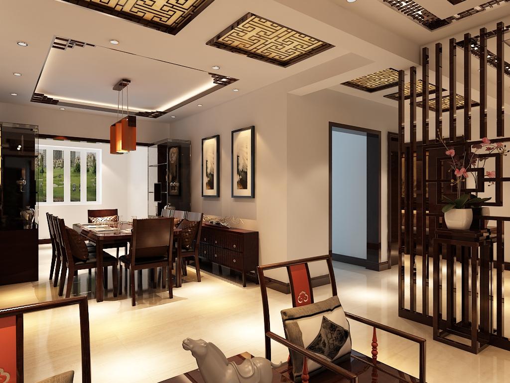 中式 三居 白领 收纳 小资 80后 餐厅图片来自百家装饰杨乐乐在信达尚城157平的分享