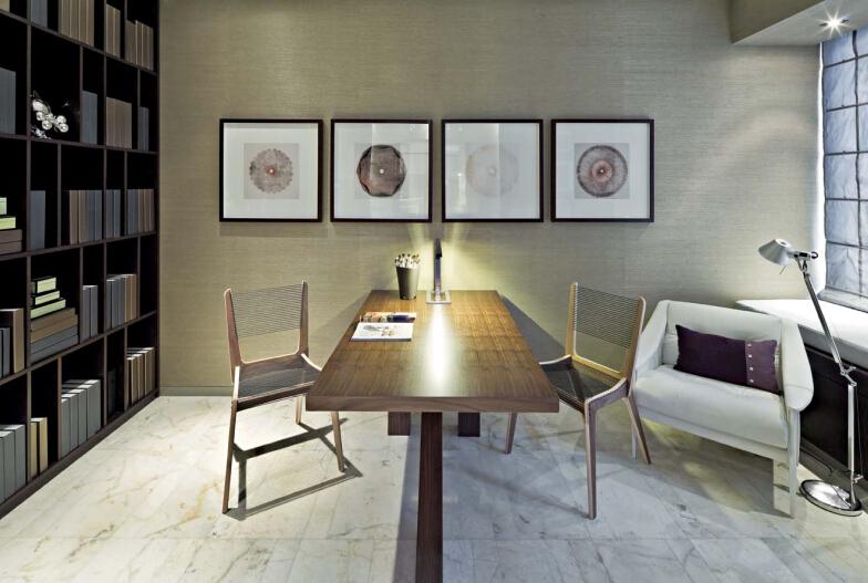 现代简约 书房图片来自紫禁尚品设计师李擎在紫玉公馆现代简约的分享