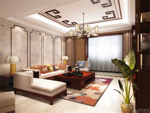 这是珑著一室一厅一厨一卫的户型。设计风格为中式。