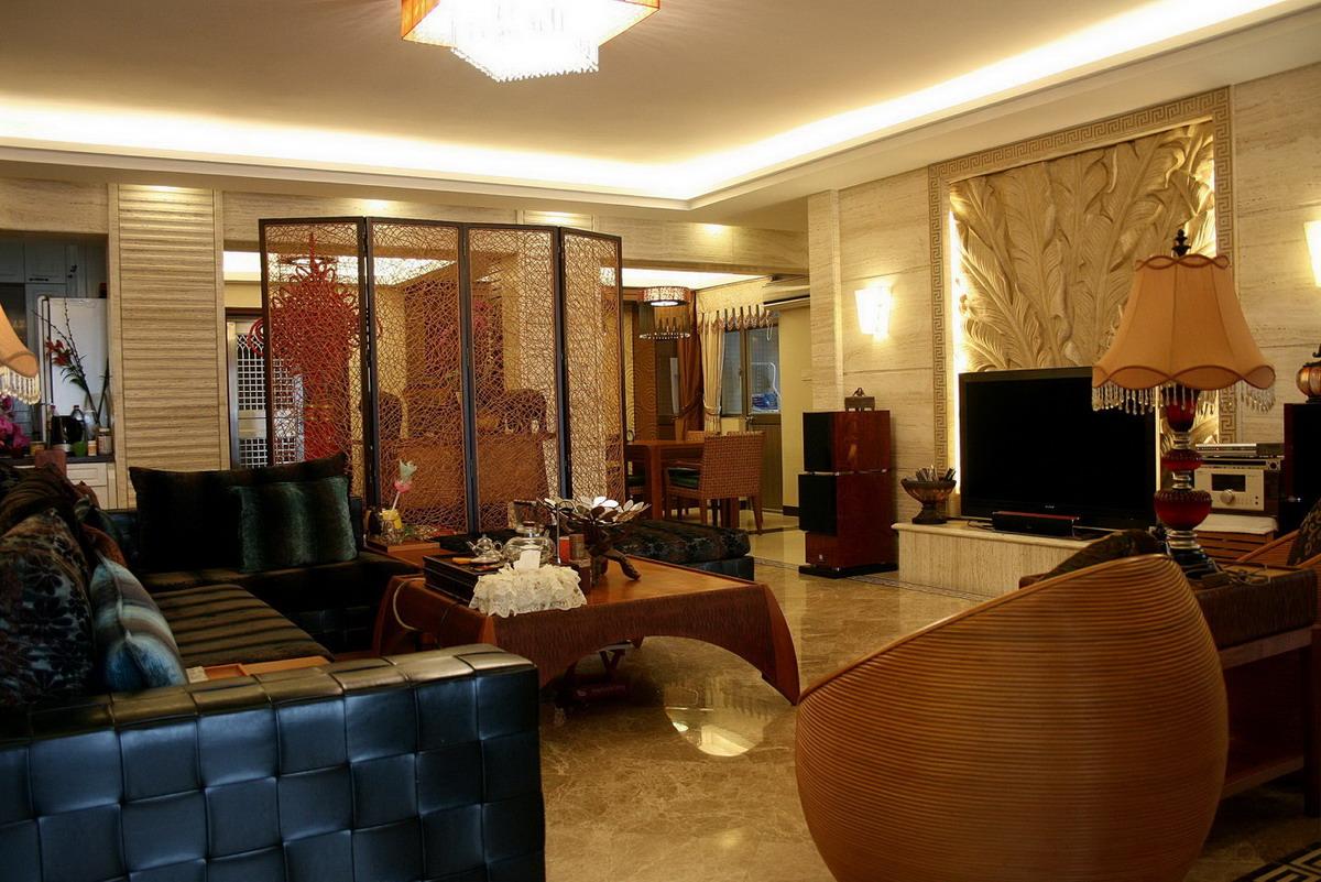 东南亚风格 泰式风格 平层装修 客厅图片来自实创装饰上海公司在泰式风格之神韵的东南亚的分享