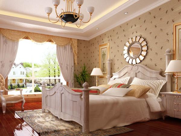 空间整体以米白色为主,地板选用棕红色,软装饰整体色调保持一致。此外具有历史性意义的壁挂修饰,完美的演绎了田园混搭风。