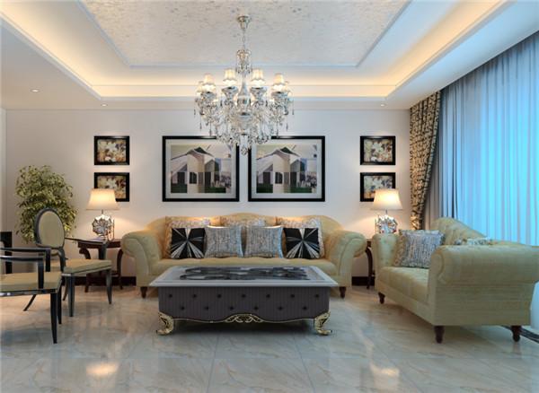 日升装饰 西安日升装 装修效果图 客厅图片来自西安日升装饰在建邦华庭146平米欧式的分享