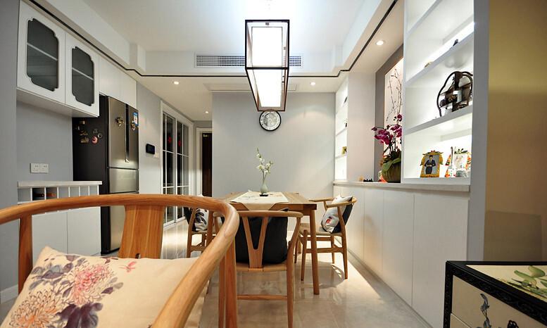 日升装饰 西安日升装 装修效果图 餐厅图片来自西安日升装饰在曲江香都83平米新中式的分享
