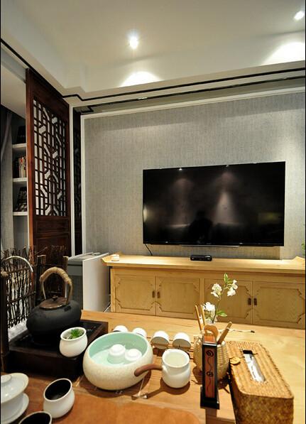 日升装饰 客厅图片来自西安日升装饰在曲江香都83平米新中式的分享