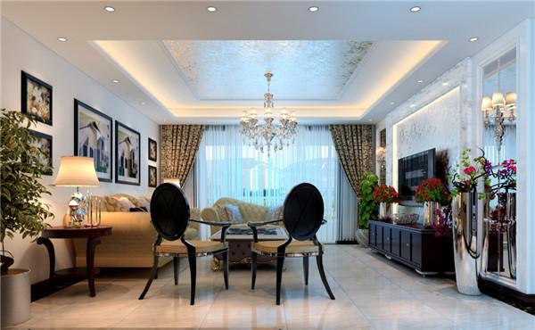 日升装饰 西安日升装 装修效果图 欧式 客厅图片来自西安日升装饰在建邦华庭146平米欧式的分享