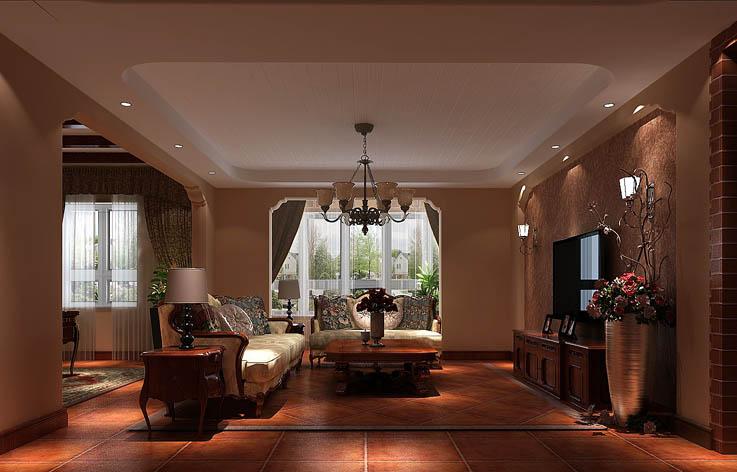 托斯卡纳 五居 公寓 金色漫香苑 高度国际 客厅图片来自高度国际姚吉智在金色漫香苑 190坪 托斯卡纳风格的分享