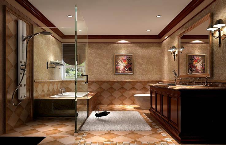 托斯卡纳 五居 公寓 金色漫香苑 高度国际 卫生间图片来自高度国际姚吉智在金色漫香苑 190坪 托斯卡纳风格的分享