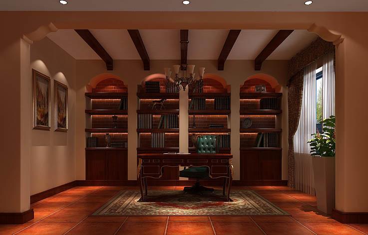 托斯卡纳 五居 公寓 金色漫香苑 高度国际 书房图片来自高度国际姚吉智在金色漫香苑 190坪 托斯卡纳风格的分享