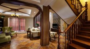 美式 各个面积 二居 三居 别墅 白领 收纳 旧房改造 80后 楼梯图片来自朗润装饰工程有限公司在清爽美式乡村的分享