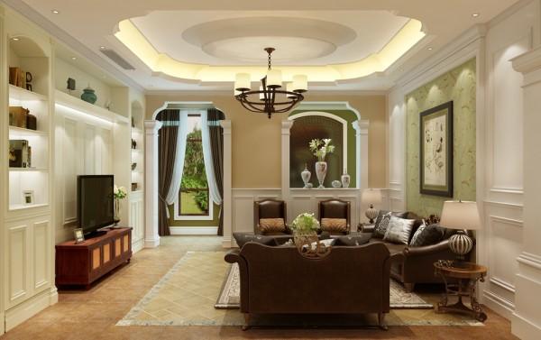 客厅白色的护墙配合简洁的装饰线条,既体现了对新古典主义装饰风的纯正传承也展示出经典与美式自然风的完美融合,优雅而不繁琐,简洁而不简单;