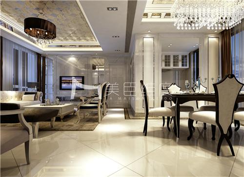 新古典 百瑞景 高贵优雅 奢华细腻 餐厅图片来自武汉美臣维度全案设计在百瑞景158平新古典风的分享