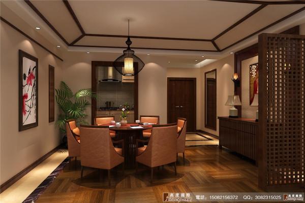 九龙仓御园餐厅细节效果图---高度国际装饰设计