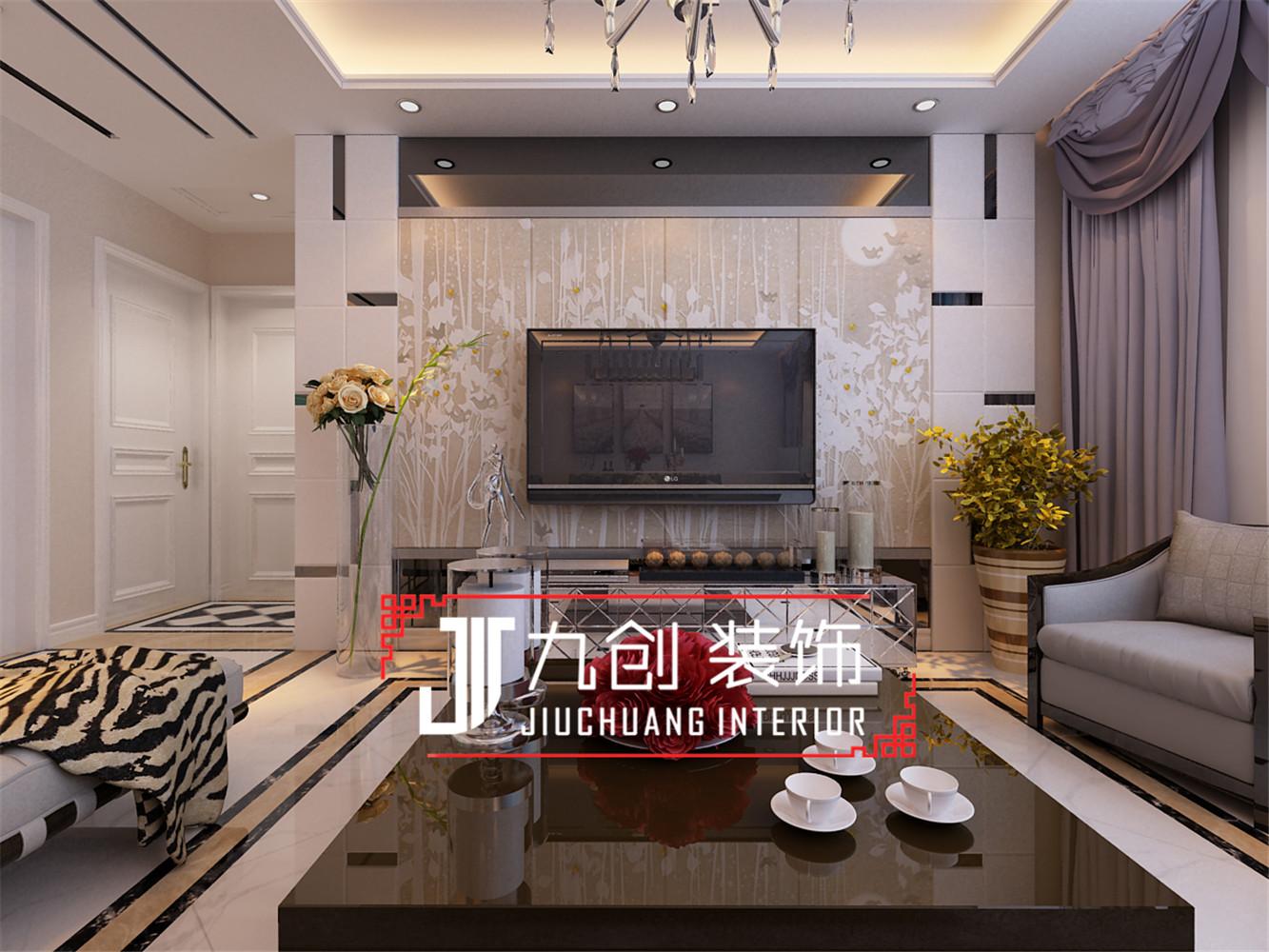 简约 三居 西吴御龙庭 客厅图片来自昆明九创装饰温舒德在西吴御龙庭101㎡简欧设计的分享