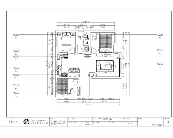 红熙郡95㎡,三室、一厅、一卫、一厨,通透的户型,结构紧凑动静分区明确,空间的布局合理,合适的空间布局能够提高空间的使用率,客厅与餐厅是相对的,增加了空间的宽敞感 ,入户门左侧是次卧。