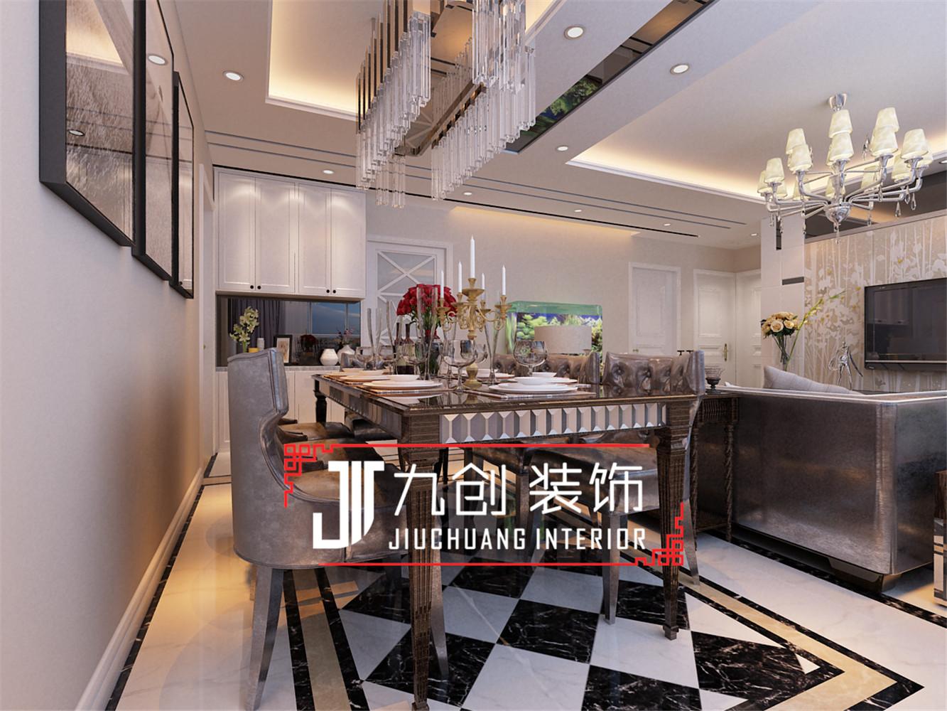 简约 三居 西吴御龙庭 餐厅图片来自昆明九创装饰温舒德在西吴御龙庭101㎡简欧设计的分享