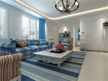 110平地中海三居室