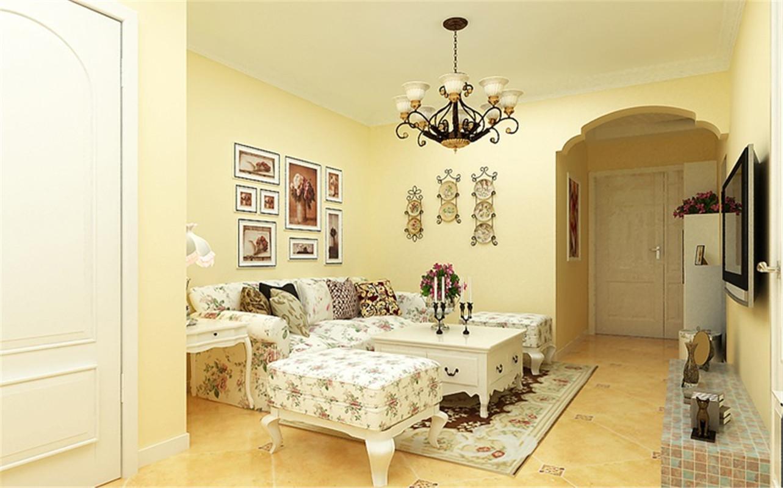 升龙又一城 美式 田园 一居 整体家装 客厅图片来自郑州实创装饰啊静在升龙又一城50平美式田园一居的分享