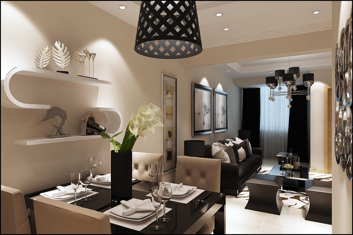 二居 郡原美村 现代简约 餐厅图片来自百家设计小刘在郡原美村70平现代风格的分享