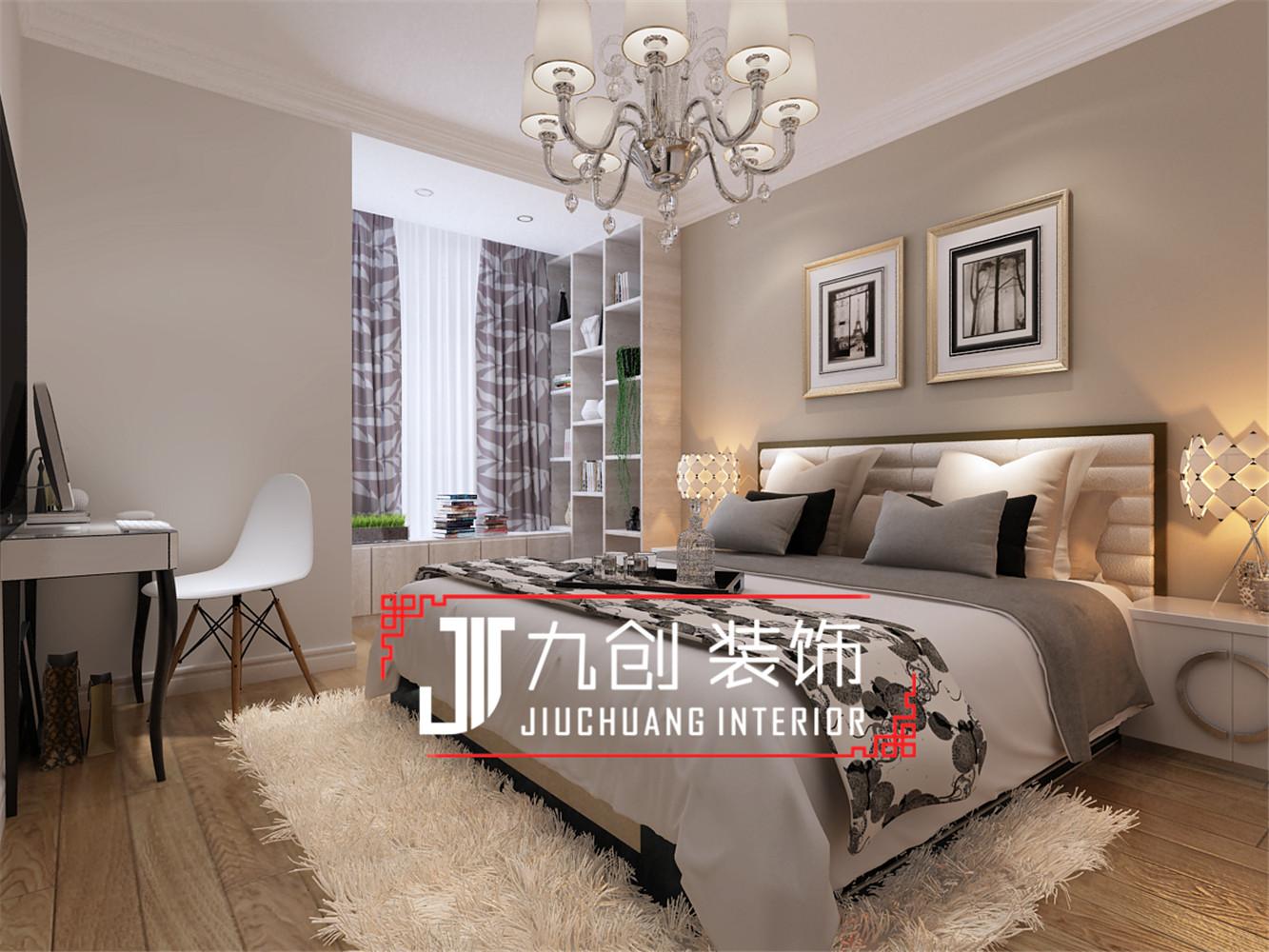 简约 三居 西吴御龙庭 卧室图片来自昆明九创装饰温舒德在西吴御龙庭101㎡简欧设计的分享