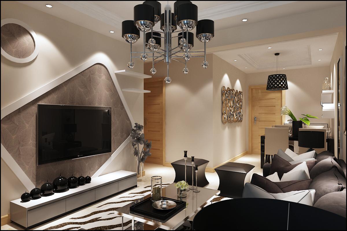 二居 郡原美村 现代简约 客厅图片来自百家设计小刘在郡原美村70平现代风格的分享