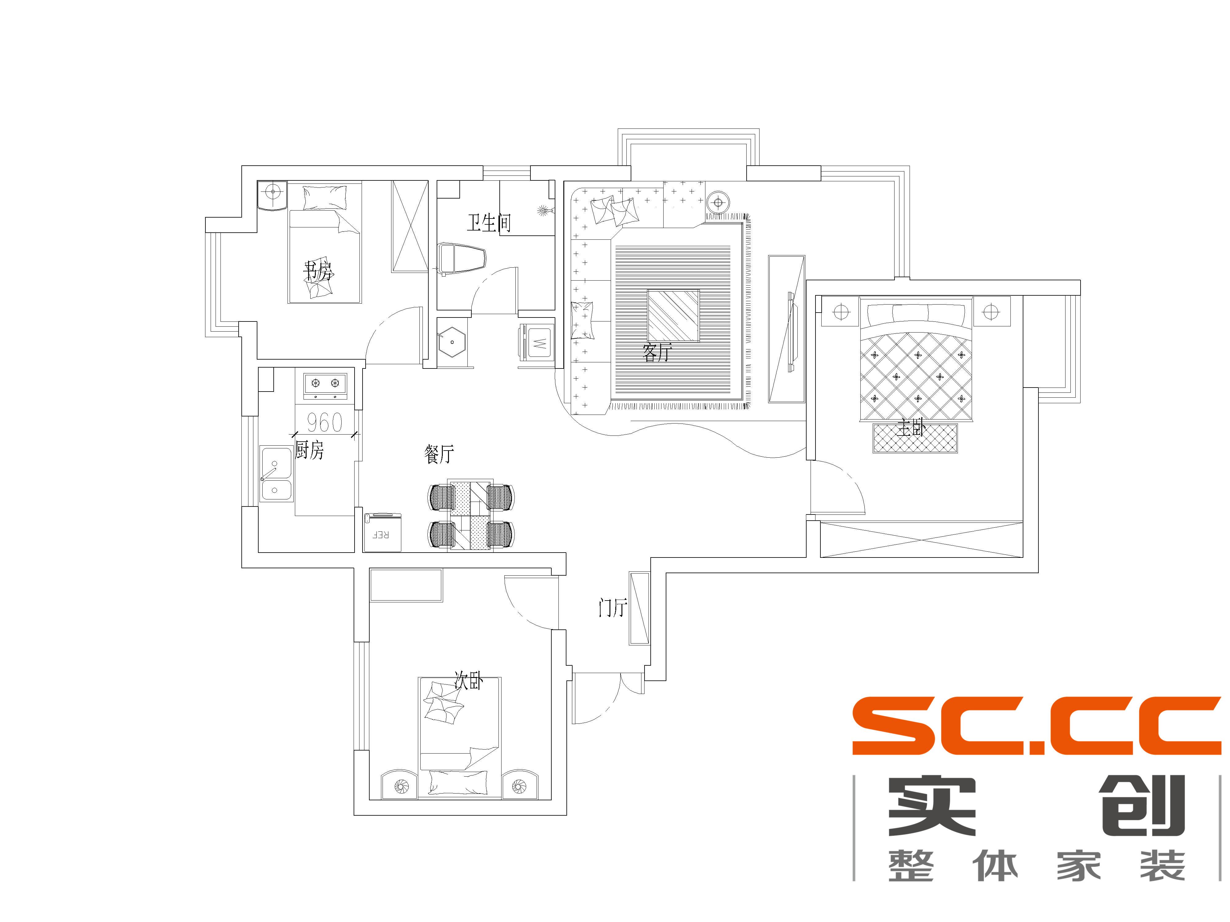 简约 三居 新房装修 东怡新地 户型图图片来自传承正能量在【东怡新地】118平米-简约风格的分享