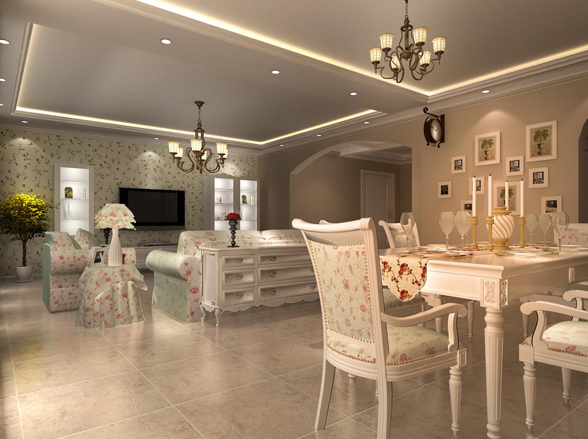 田园 三居 白领 收纳 旧房改造 80后 小资 客厅图片来自实创装饰完美家装在阳光波尔多东区220平田园风格的分享