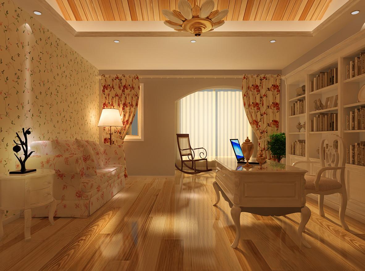 田园 三居 白领 收纳 旧房改造 80后 小资 书房图片来自实创装饰完美家装在阳光波尔多东区220平田园风格的分享