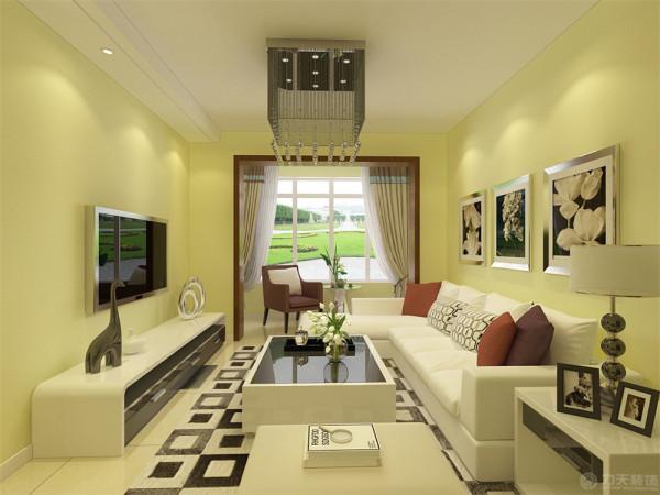 本案为海上国际城三室两厅一厨一卫97平米的户型。这次的设计风格定义为现代简约风格。