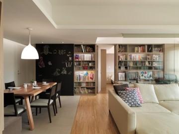 实景案例赏析151㎡开敞式书房