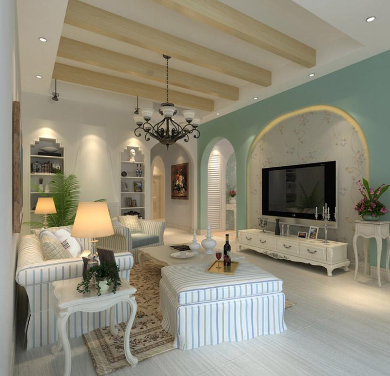地中海 别墅 白领 收纳 旧房改造 80后 小资 客厅图片来自实创装饰百灵在泊爱蓝岛330平别墅地中海装修的分享