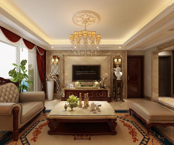室内在着繁缛雕刻的手艺装饰和陈设上表现出一种恒久的艺术气息。然后,再利用色彩华丽且用暖色调加以协调,让变形的直线与曲线相互作用。