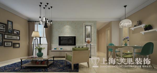 升龙城简约风格装修案例89平方两室两厅户型案例效果图——电视背景墙