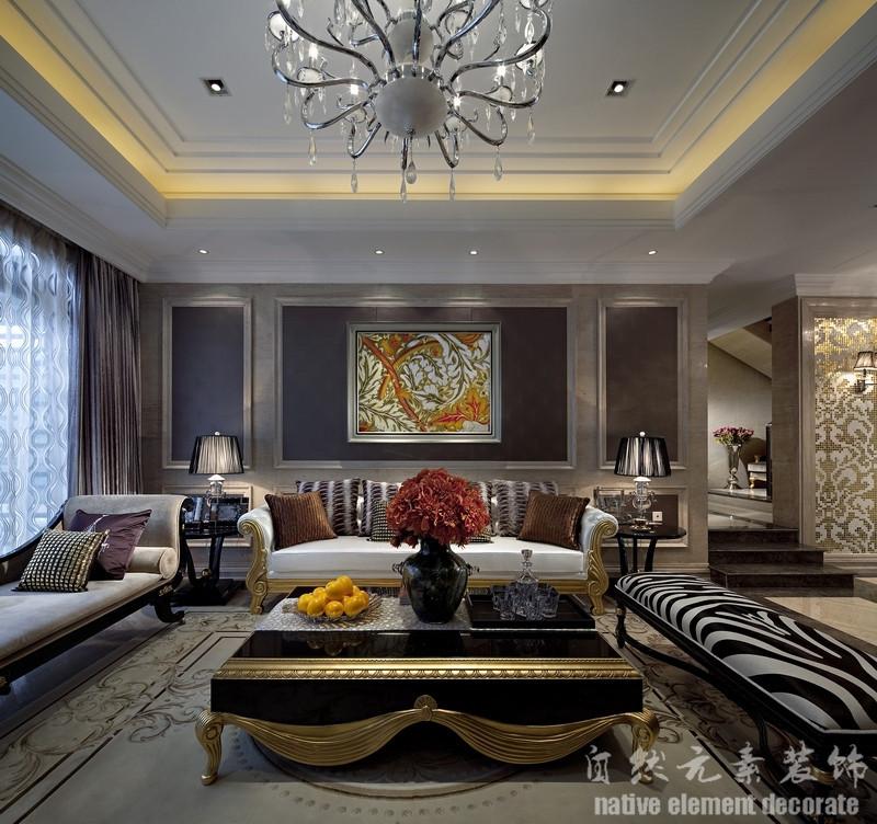 五环新村 美式 三居 客厅图片来自自然元素装饰在五环新村美式风装修案例的分享