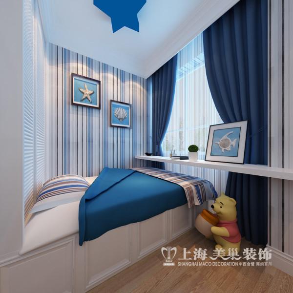 贰号城邦简欧风格89平两室两厅装修样板间效果图——卧室装修效果图