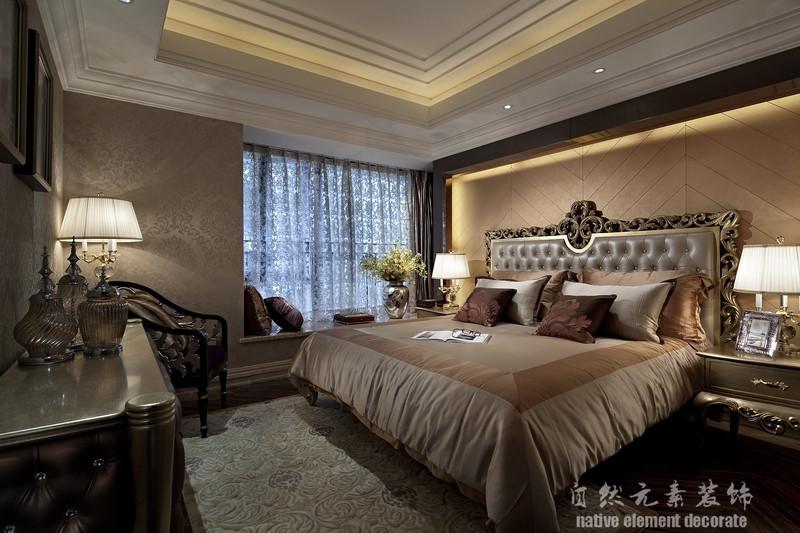五环新村 美式 三居 卧室图片来自自然元素装饰在五环新村美式风装修案例的分享