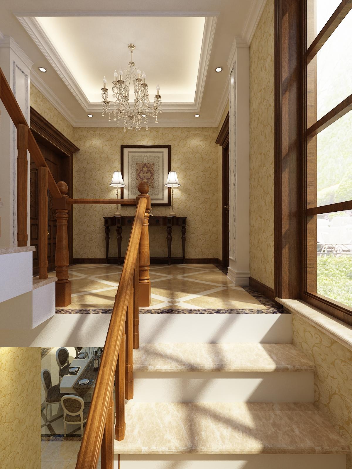 欧式混搭 别墅装修设 装修设计师 装修设计 玄关图片来自安莉_Designer在世贸玲珑台的分享