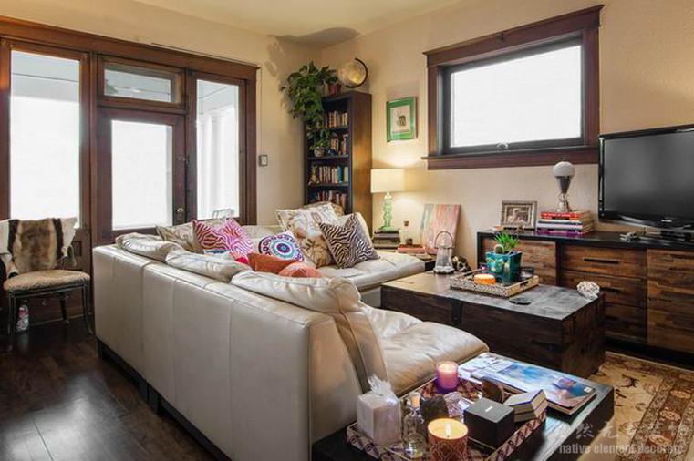 碧海云天 混搭风 二居 客厅图片来自自然元素装饰在碧海云天混搭风装修案例的分享