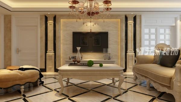 客厅电视墙选用了天然石材,把整体的空间的主题点亮。