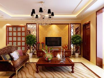 欧式田园风格-135平米三居室装修