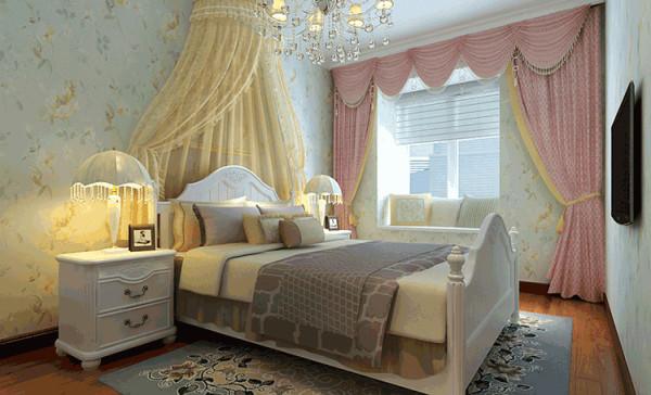 配以羊毛地毯和温馨靠枕点缀少女的浪漫空间,充分渲染了公主房的高贵与浪漫!